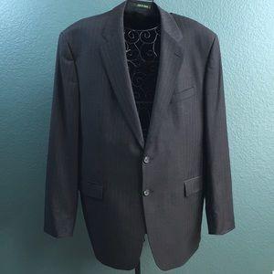 Ralph Lauren Mens 2 Button Pocketed Stripes Blazer